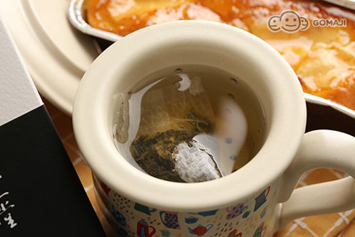 【深夜裡的法國手工甜點x不二堂】蘋果磅蛋糕+翠玉立體茶 1組起