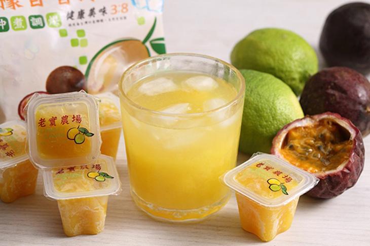 屏東【老實農場】檸檬百香果原汁冰角 60顆起