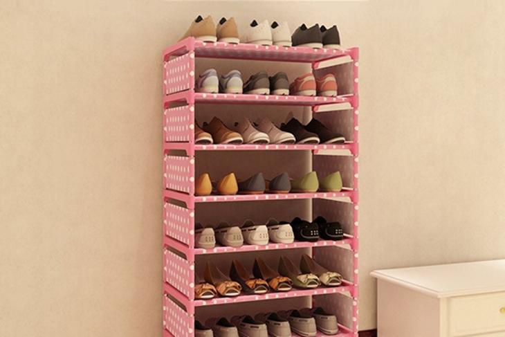 超級大收納超穩固隔層八層鞋櫃 1入起