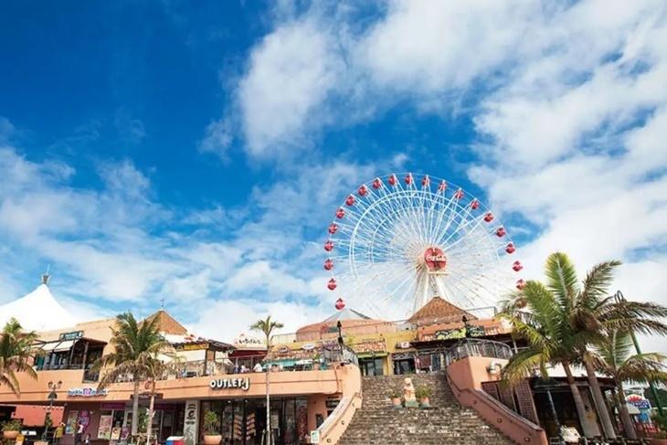 日本-沖繩一日遊(萬座毛、古宇利島、美麗海水族館、美國村)