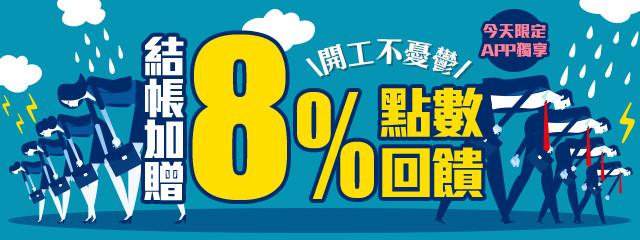 APP全站贈8%