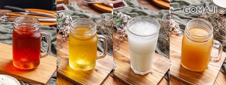 紅茶 / 無糖綠茶 / 可爾必思 / 冬瓜檸檬冰沙