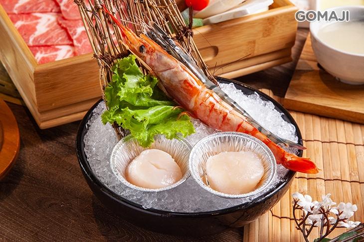 天使紅蝦一隻 / 草蝦一隻 / 北海道干貝